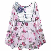 Hannah Banana Flower Tunic for Tweens in Pink