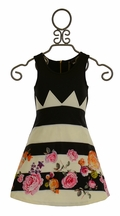 Hannah Banana Girls Designer Dress Black and White (4,5,6,6X,8)