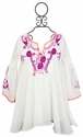 Hannah Banana Girls Embroidered White Tunic