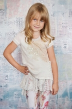 Hannah Banana Girls Legging Outfit with Lace (Size 7)