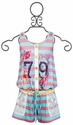 Hannah Banana Girls Romper with Lace Back