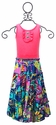 Hannah Banana Girls Tiered Tropical Maxi Dress