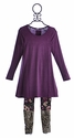 Hannah Banana Girls Tunic Dress with Leggings Purple