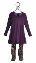 Hannah Banana Girls Tunic Dress with Leggings Purple (Size 5)