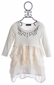 Hannah Banana Ivory Tween Tunic with Tiered Hem (Size 12)