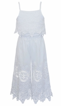 Hannah Banana Jumpsuit in White Lace