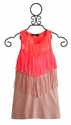 Hannah Banana Little Girls Dress with Fringe