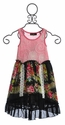 Hannah Banana Little Girls Floral Dress in Black