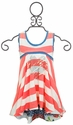 Hannah Banana Neon Orange Striped Girls Dress