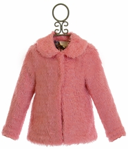 Hannah Banana Pink Faux Fur Coat Celebrity Gossip (3T,5,6,6X)