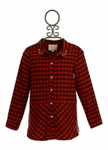 Hannah Banana Plaid Tunic with Circus Applique