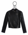 Hannah Banana Studded Tween Jacket Faux Leather