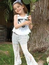 Hannah Banana Tank Top and Lace Pants for Girls (7,10,12)