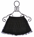 Hannah Banana Tween Black Tiered Skirt