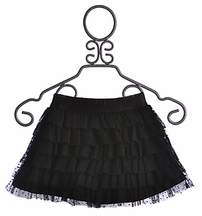 Hannah Banana Tween Black Tiered Skirt (Size 14)