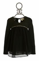 Hannah Banana Tween Chiffon Tunic with Rhinestone Trim