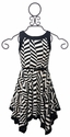 Hannah Banana Tween Geometric Handkerchief Dress