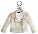 Hannah Banana Tween Lace Moto Jacket