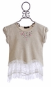 Hannah Banana Tween Tunic with Lace (Size 7 & 10)