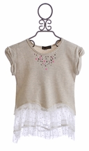 Hannah Banana Tween Tunic with Lace (Size 10)