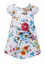 Hannah Banana White Floral Print Dress