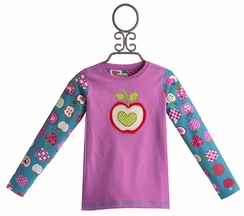 Hatley Back to School Girls Shirt Pink Apple (2, 5, 6)