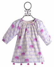 Hatley Boutique Girls Tunic Elephant Silhouettes (Size 5)
