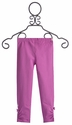 Hatley Girls Designer Leggings Ruched Pink