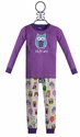 Hatley Little Girls Pajamas Owls in Purple