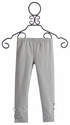 Hatley Striped Little Girl Leggings in Gray