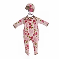 Haute Baby Amys Garden Floral Footie with Hat