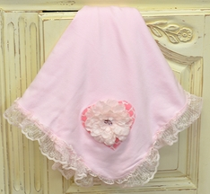Haute Baby Baby Blanket with Lace Ruffles