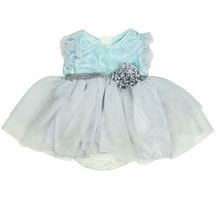 Haute Baby Bubble Dress with Silver Bow