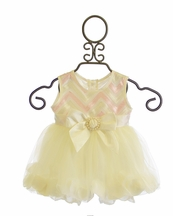 Haute Baby Butter Creme Petal Bubble Dress (6/9Mos & 24Mos)