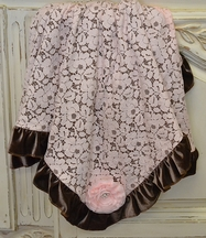 Haute Baby Cocoa Chic Blanket Brown and Pink