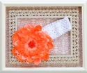 Haute Baby Daisy Orange Girls Headband