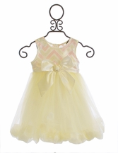 Haute Baby Ivory Dress for Girls with Petals (12Mos,2T,3T)