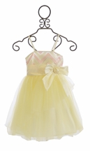 Haute Baby Elegant Dress for Girls Butter Creme