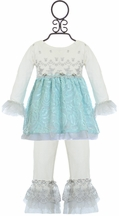 Haute Baby Elsa's Magic Tunic with Leggings for Girls (Size 0-3Mos)