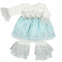 Haute Baby Elsa's Magic Tunic with Leggings for Girls