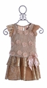 Haute Baby Fancy Girls Dress Rosette Flutter