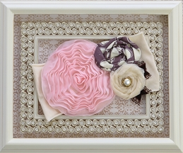 Haute Baby Fancy Girls Headband with Rosettes (Size Toddler 2T-4T)