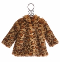Haute Baby Faux Fur Coat - Leopard Coat for Little Girls
