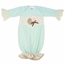 Haute Baby Felicity Baby Gown in Light Blue