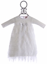Haute Baby Frilly Baby Gown Snow White