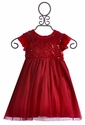 Haute Baby Frilly Christmas Dress for Toddlers Ruby