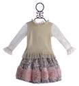 Haute Baby Girls Couture Skirt Set with Rosettes (Size 3T, 5)