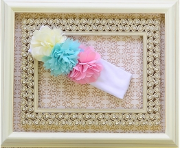 Haute Baby Girls Headband with Flowers