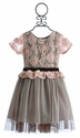 Haute Baby Girls Holiday Dress in Lace Flowers