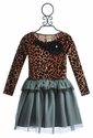 Haute Baby Girls Leopard Tutu Dress in Velvet